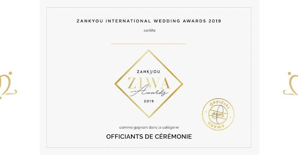 Unique Ceremonies Gagnant du Prix ZIWA 2019